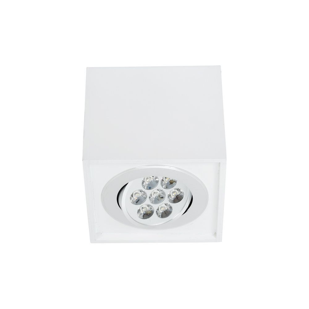 Потолочный светодиодный светильник Nowodvorski Box LED 6422, LED 7W, белый, дерево, металл - фото 1