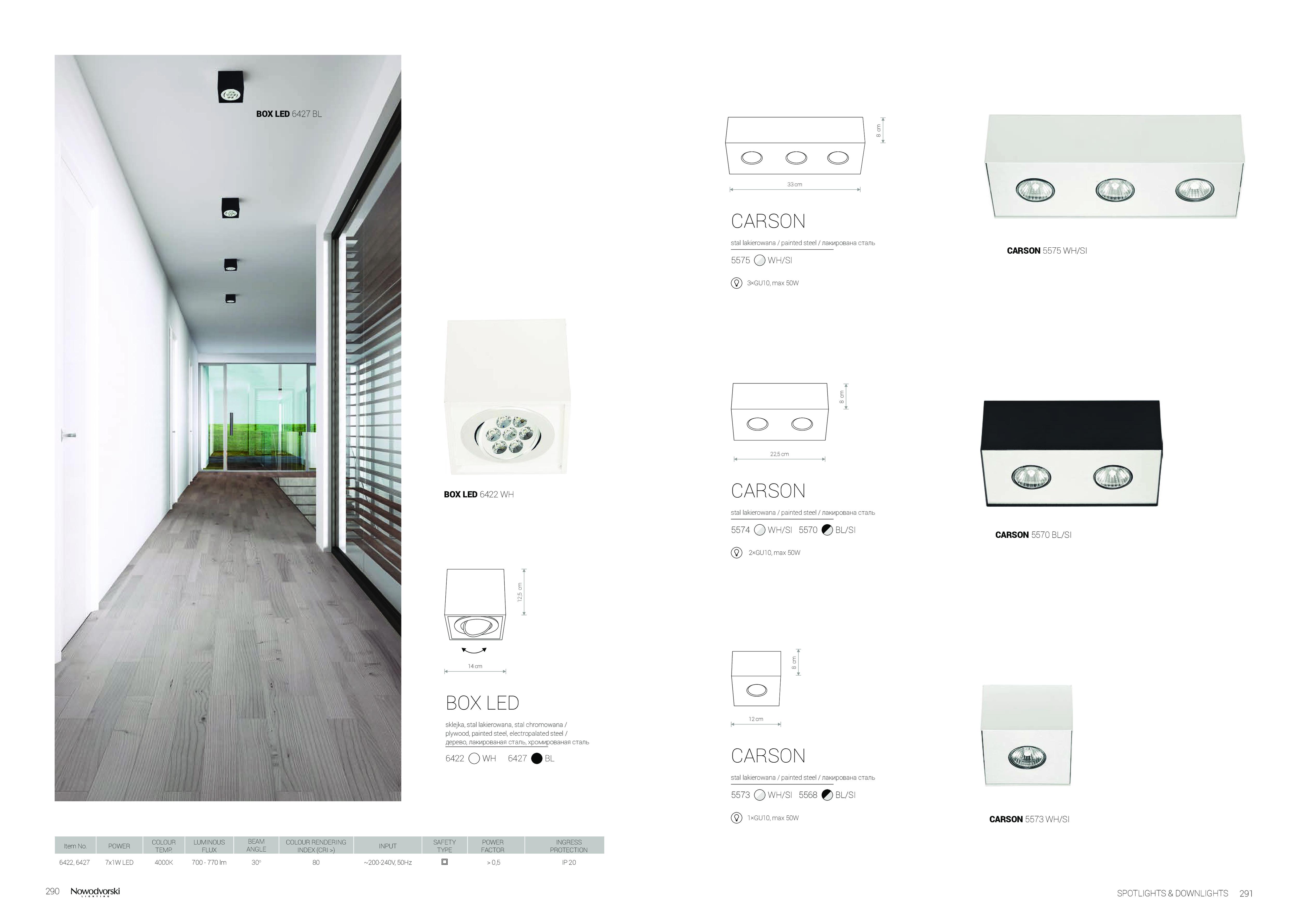 Потолочный светодиодный светильник Nowodvorski Box LED 6422, LED 7W, белый, дерево, металл - фото 2