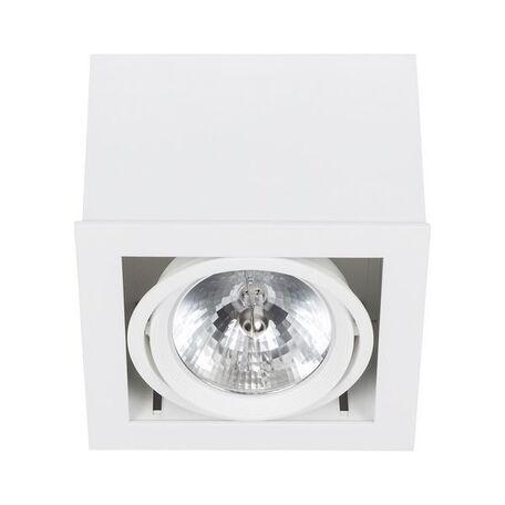 Потолочный светильник Nowodvorski Box 6455, 1xG53AR111x50W, белый, дерево, металл