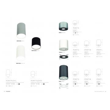 Потолочный светильник Nowodvorski Point Plexi 6527, 1xGU10x35W, белый с серебром, металл, пластик - миниатюра 5