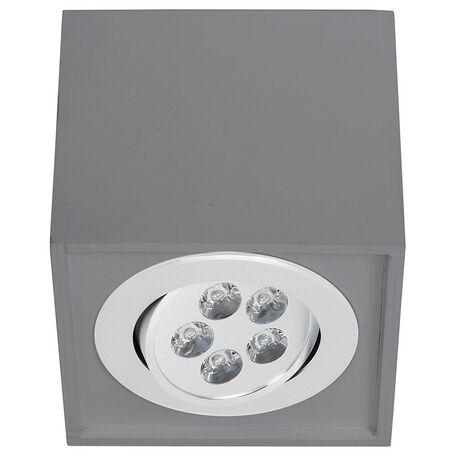 Потолочный светодиодный светильник Nowodvorski Box LED 9630, LED 5W, серый, дерево, металл
