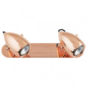 Потолочный светильник с регулировкой направления света Nowodvorski Salina Copper 6264, 2xGU10x50W, медь, металл - миниатюра 2