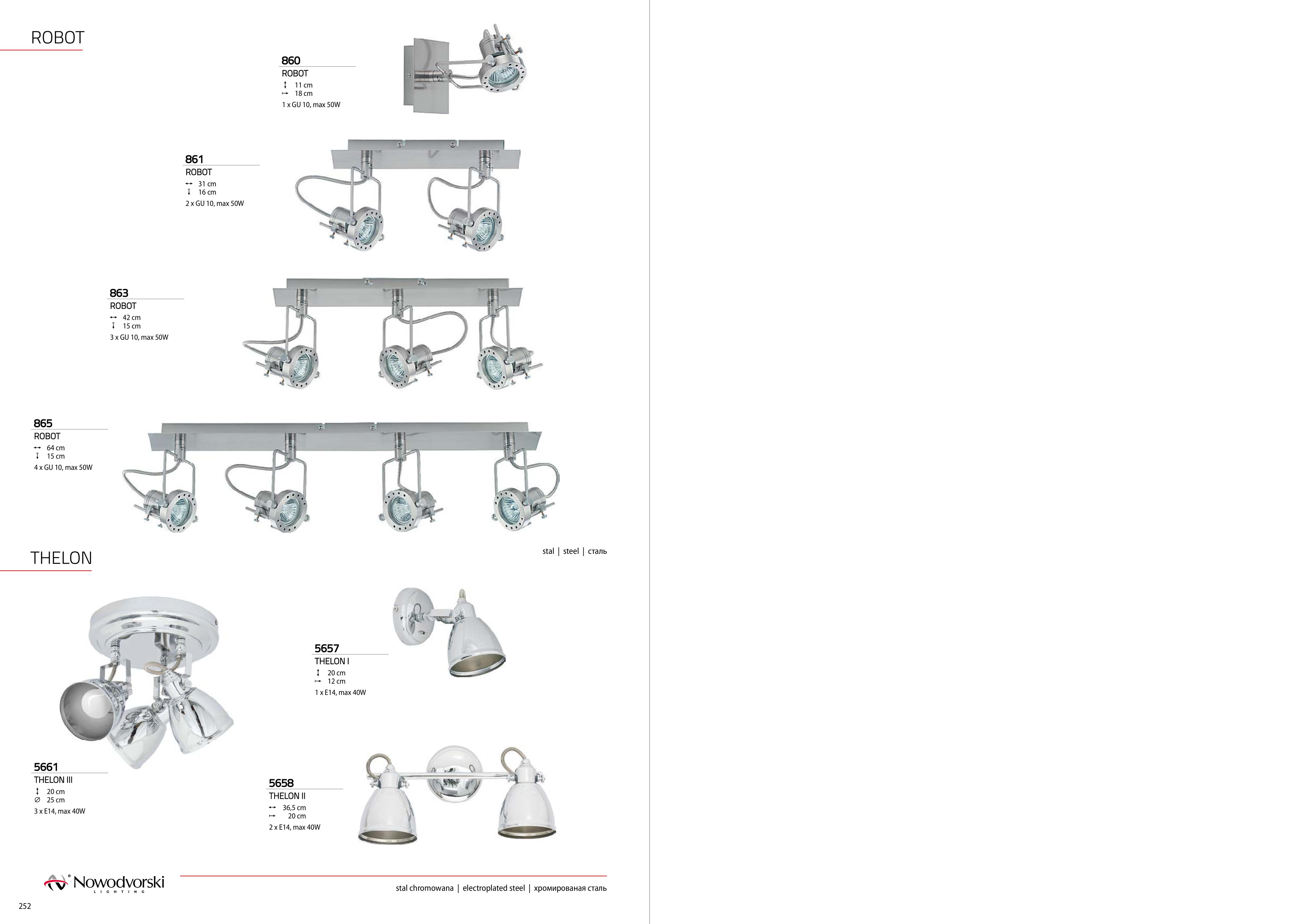Потолочный светильник Nowodvorski Robot 860, 1xGU10x50W, сталь, металл - фото 3