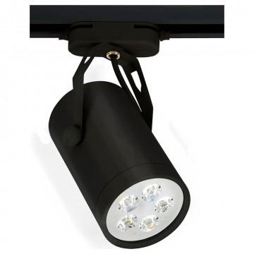 Светодиодный светильник с регулировкой направления света для шинной системы Nowodvorski Store LED 6824, LED 5W 4000K 450~500lm, черный, металл
