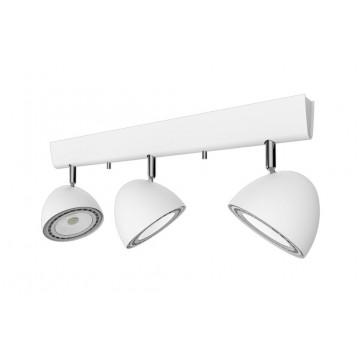 Потолочный светильник с регулировкой направления света Nowodvorski VESPA WHITE 9592, 3xGU10x75W, белый, металл