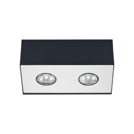 Потолочный светильник Nowodvorski Carson 5570, 2xGU10x50W, серебро, черный, металл