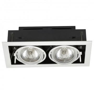 Встраиваемый светильник Nowodvorski Downlight 4871, 2xG53AR111x50W, серебро, металл
