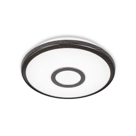 Потолочный светодиодный светильник Citilux Старлайт CL70315, IP44, LED 12W 3000K 800lm, белый, венге, металл, металл с пластиком