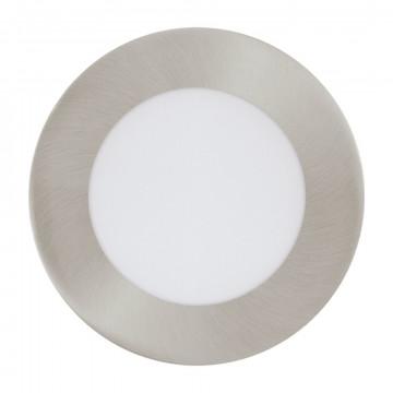 Светодиодная панель Eglo Fueva 1 96406, LED 5,5W 3000K 600lm, никель, металл с пластиком, пластик