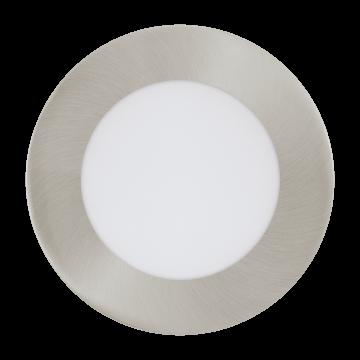 Встраиваемая светодиодная панель Eglo Fueva 1 96406, LED 5,5W, никель, металл, пластик