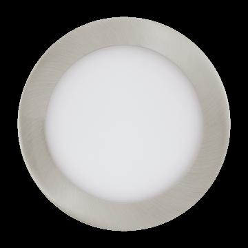 Встраиваемая светодиодная панель Eglo Fueva 1 96407, LED 10,95W 3000K 1200lm, никель, металл с пластиком, пластик