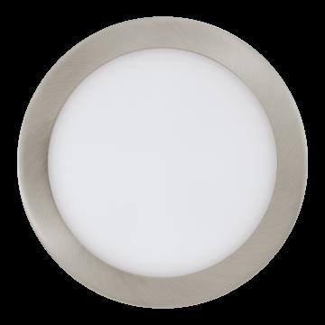 Встраиваемая светодиодная панель Eglo Fueva 1 96408, LED 16,47W 3000K 1600lm, никель, металл с пластиком, пластик