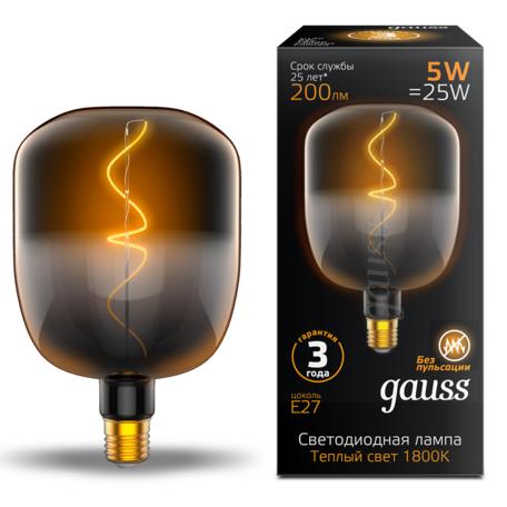 Светодиодная лампа Gauss Filament Oversize 1008802105 E27 5W, 1800K (теплый) CRI80 220V