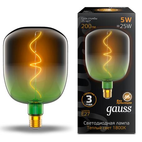 Светодиодная лампа Gauss Filament Oversize 1009802105 E27 5W, 1800K (теплый) CRI80 220V