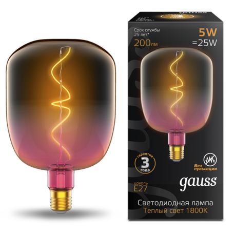 Светодиодная лампа Gauss Filament Oversize 1010802105 E27 5W, 1800K (теплый) CRI80 220V