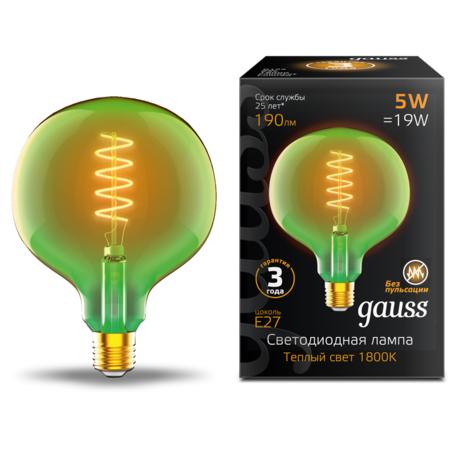 Светодиодная лампа Gauss Filament Oversize 1012802105 шар малый E27 5W, 1800K (теплый) CRI80 220V