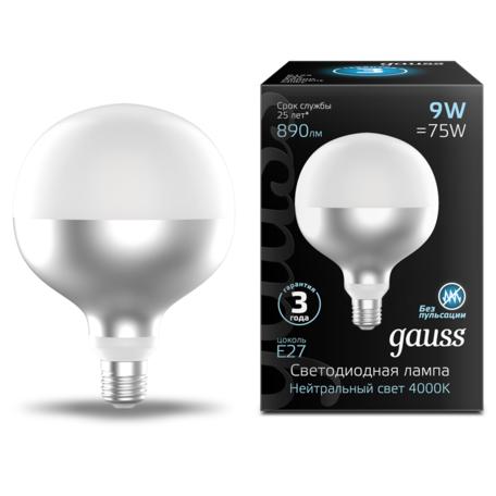 Светодиодная лампа Gauss Filament Oversize 1014802209 шар E27 9W, 4000K (дневной) CRI80 220V