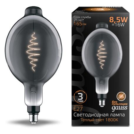Светодиодная лампа Gauss Filament Oversize 152802005 Bomb E27 8,5W, 1800K (теплый) CRI80 220V
