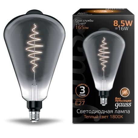 Светодиодная лампа Gauss Filament Oversize 157802005 капля E27 8,5W, 1800K (теплый) CRI80 220V