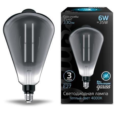 Светодиодная лампа Gauss Filament Oversize 157802205 E27 6W, 4100K (холодный) CRI80 220V