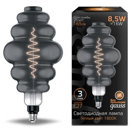 Светодиодная лампа Gauss Filament Oversize 161802005 E27 8,5W, 1800K (теплый) CRI80 220V
