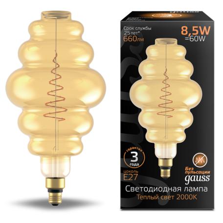 Светодиодная лампа Gauss Filament Oversize 161802105 E27 8,5W, 2000K (теплый) CRI80 220V