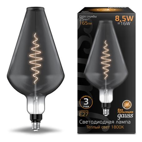Светодиодная лампа Gauss Filament Oversize 180802005 E27 8,5W, 1800K (теплый) CRI80 220V
