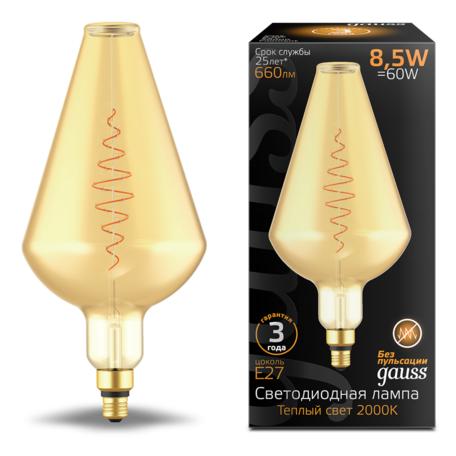 Светодиодная лампа Gauss Filament Oversize 180802105 E27 8,5W, 2000K (теплый) CRI80 220V