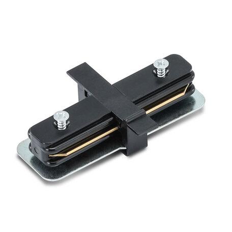 Внутренний прямой соединитель для шинопровода Arte Lamp Instyle A130106, черный, пластик