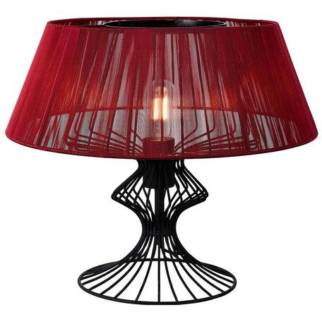 Настольная лампа Lussole Loft Cameron LSP-0527, IP21, 1xE27x40W, черный, красный, металл, текстиль