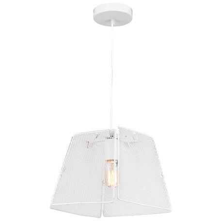 Подвесной светильник Lussole LGO Bossier LSP-8274, IP21, 1xE27x40W, белый, металл