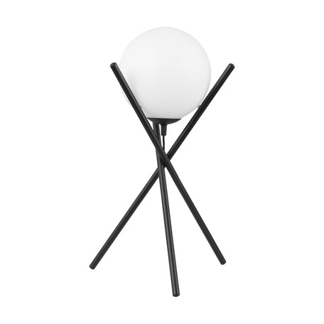 Настольная лампа Eglo Salvezinas 39593, 1xE14x25W, черный, белый, металл, стекло