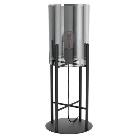 Настольная лампа Eglo Stars of Light Timeless Reflection Glastonbury 43144, 1xE27x28W, черный, дымчатый, металл, стекло