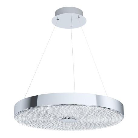 Подвесной светодиодный светильник Eglo Escorihuel 39572, LED 27W 3000K 3600lm, хром, металл, стекло