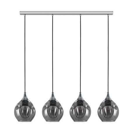 Подвесной светильник Eglo Bregalla 39681, 4xE27x40W, хром, дымчатый, металл, стекло