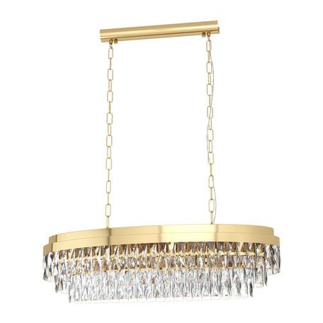 Подвесной светильник Eglo Valparaiso 39462, 10xE14x40W, золото, прозрачный, металл, хрусталь
