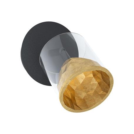 Настенный светодиодный светильник с регулировкой направления света Eglo Stars of Light Charming Elegance Melito 39573, LED 5,4W 3000K 510lm, черный, матовое золото, металл, металл со стеклом