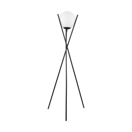 Торшер Eglo Salvezinas 39594, 1xE27x25W, черный, белый, металл, стекло