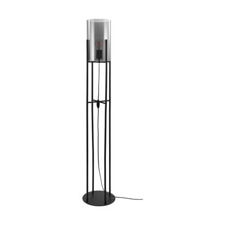 Торшер Eglo Glastonbury 43142, 1xE27x60W, черный, дымчатый, металл, стекло