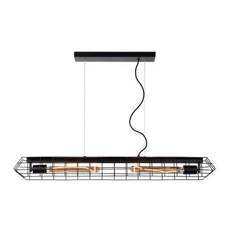 Подвесной светильник Lucide Lattice 05332/02/30, 2xE27x40W, черный, металл