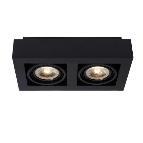 Потолочный светильник Lucide Zefix 09120/24/30, 2xGU10x12W, черный, металл