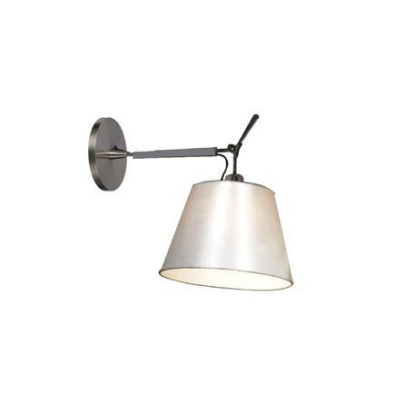 Бра с регулировкой направления света Favourite Phantom 1867-1W, 1xE27x60W, серебро, белый, металл, текстиль
