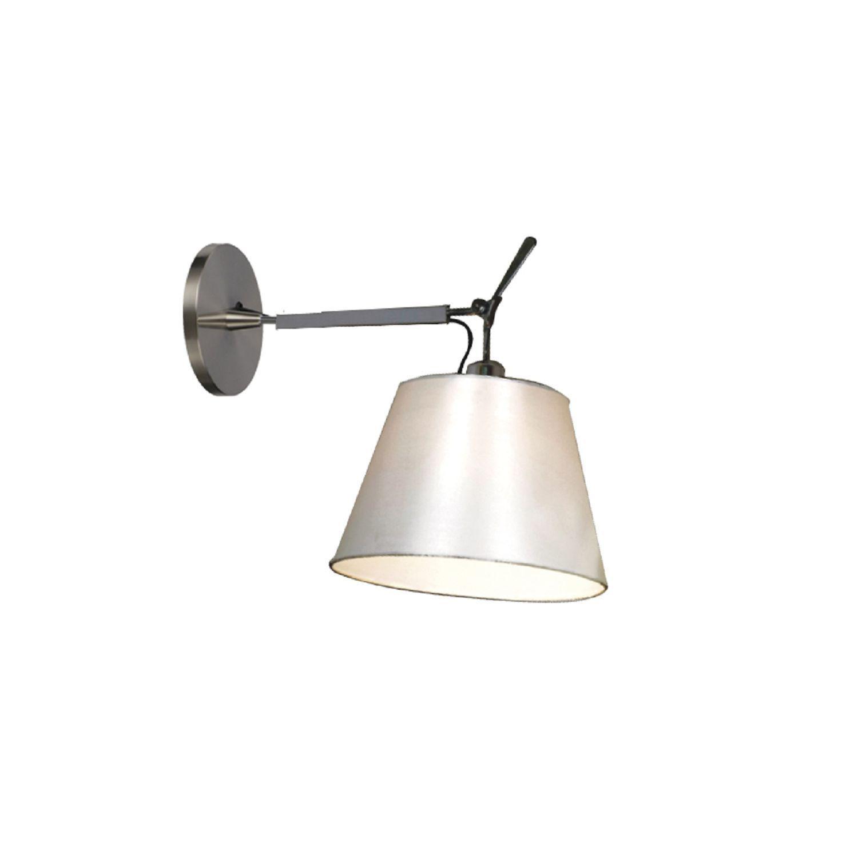 Бра с регулировкой направления света Favourite Phantom 1867-1W, 1xE27x60W, серебро, белый, металл, текстиль - фото 1