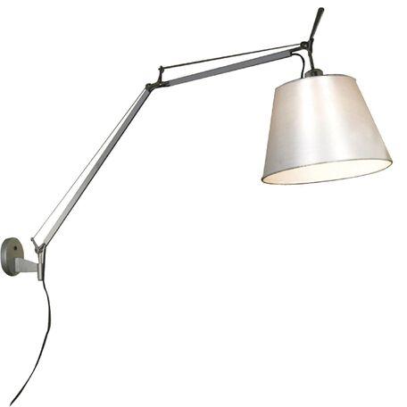 Бра с регулировкой направления света Favourite Phantom 1868-1W, 1xE27x60W, серебро, белый, металл, текстиль