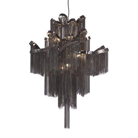 Люстра-каскад Favourite Multivello 1157-8P, 8xE14x40W, черный хром, черный, металл