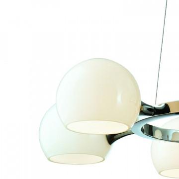 Подвесная люстра Favourite Molecula 1014-6P, 6xE14x40W, хром, белый, металл, стекло - миниатюра 2
