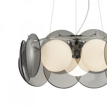 Подвесная люстра Favourite Palle 1131-3P, 3xE14x40W, хром, дымчатый, металл, стекло - миниатюра 3
