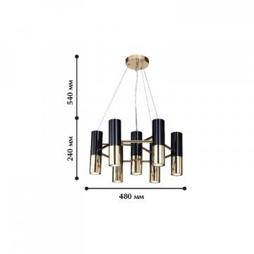 Схема с размерами Favourite 1600-7P