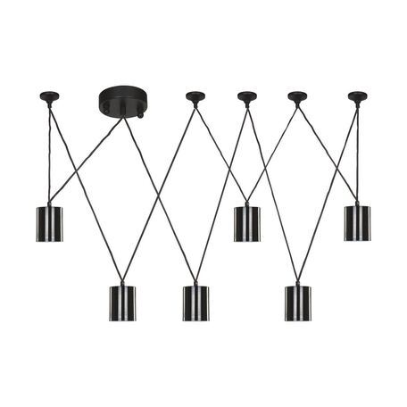 Подвесной светильник Favourite Actuel 1441-6P, 6xGU10x5W, черный, металл
