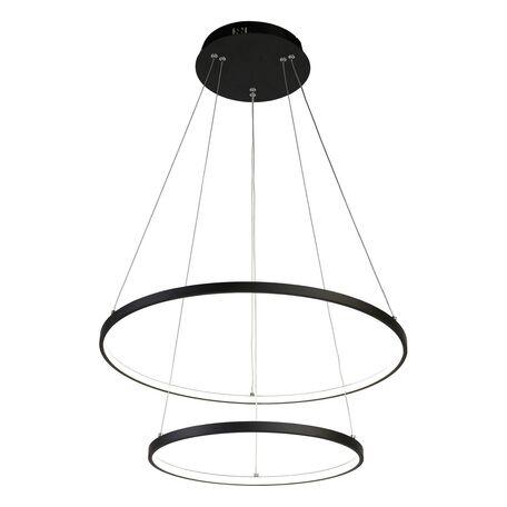 Подвесной светодиодный светильник Favourite Giro 1764-10P, LED 80W, черный, металл, металл с пластиком, пластик